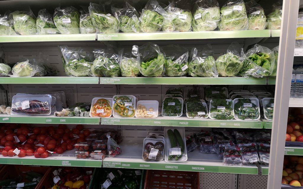 Gemüse Supermarkt Falklandinseln
