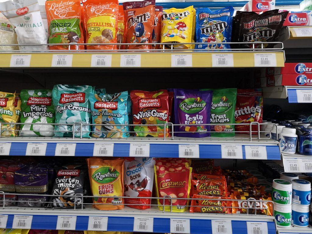 Süßigkeiten Supermarkt Falklandinseln