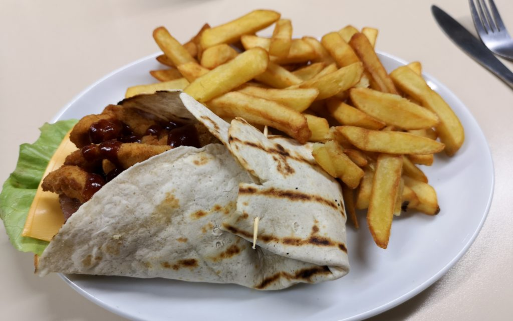 Chicken Wrap Shorty's Diner